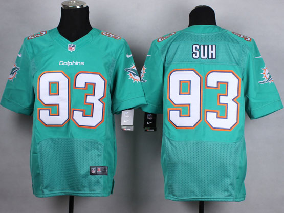 Mens Nfl Miami Dolphins #93 Suh Green (2013 New) Elite Jersey