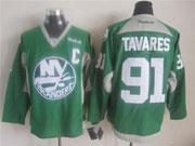 Mens reebok nhl new york islanders #91 tavares green (2015 new train) Jersey