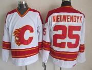 Mens Ccm Nhl Calgary Flames #25 Nieuwendyk White Throwbacks Jersey