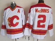 Mens Ccm Nhl Calgary Flames #2 Macinnis White Throwbacks Jersey