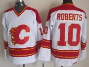 Mens nhl calgary flames #10 roberts white throwbacks Jersey