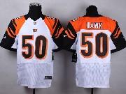 Mens Nfl Cincinnati Bengals #50 Hawk White Elite Jersey