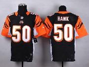 Mens Nfl Cincinnati Bengals #50 Hawk Black Elite Jersey