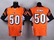 Mens Nfl Cincinnati Bengals #50 Hawk Orange Elite Jersey