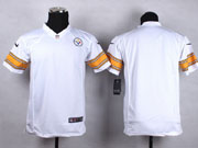 Youth Nfl Pittsburgh Steelers Blank White Game Jersey