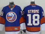 Mens reebok nhl new york islanders #18 strome blue Jersey