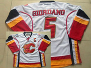 Mens Reebok Nhl Calgary Flames #5 Giordano White C Patch Jersey