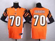 Mens Nfl Cincinnati Bengals #70 Ogbuehi Orange Elite Jersey