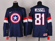 Mens nhl captain america #81 kessel blue Jersey