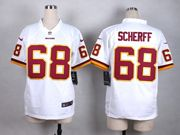 Mens Nfl Washington Redskins #68 Scherff White Game Jersey