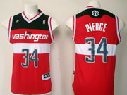 Mens Nba Washington Wizards #34 Paul Pierce Red 2014-15 New Swingman Jersey
