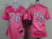 women  nfl Pittsburgh Steelers #26 Le'veon Bell pink game jersey