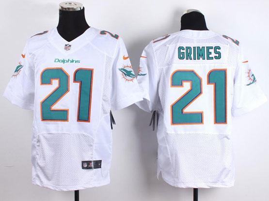 Mens Nfl Miami Dolphins #21 Grimes White Elite Jersey