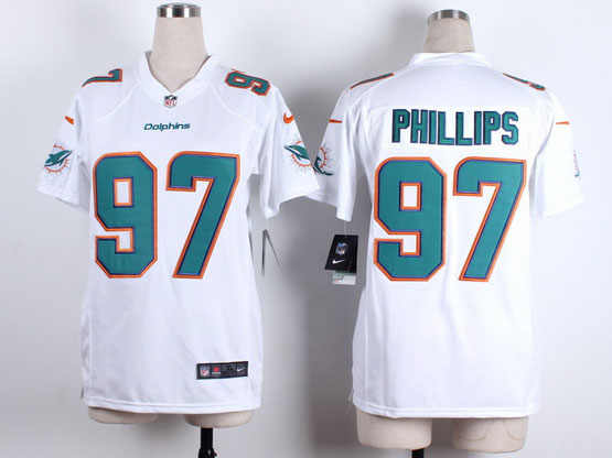 Women  Nfl Miami Dolphins #97 Phillips White Game Jersey