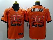 Mens Nfl Cincinnati Bengals #25 Bernard Drift Fashion Orange Elite Jersey