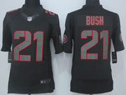 Mens Nfl San Francisco 49ers #21 Bush Black New Impact Limited Jersey Sn