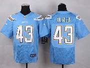 Mens Nfl San Diego Chargers #43 Oliver Light Blue Elite Jersey