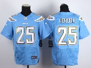 Mens Nfl San Diego Chargers #25 Gordon Light Blue Elite Jersey