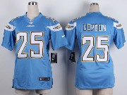 Women  Nfl San Diego Chargers #25 Gordon Light Blue Game Jersey