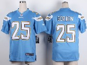 Youth Nfl San Diego Chargers #25 Gordon Light Blue Game Jersey