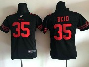 Youth Nfl San Francisco 49ers #35 Reid Black Game Jersey