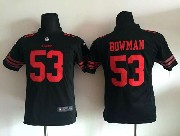 youth nfl San Francisco 49ers #53 NaVorro Bowman black game jersey