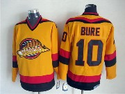 Mens nhl vancouver canucks #10 bure yellow throwbacks Jersey