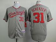 Mens Mlb Washington Nationals #31 Max Scherzer Gray Cool Base Jersey