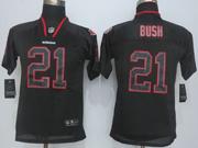 Youth   Nfl San Francisco 49ers #21 Bush Lights Out Black Elite Jersey Sn