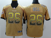 mens nfl Pittsburgh Steelers #26 Le'veon Bell drift fashion yellow elite jersey