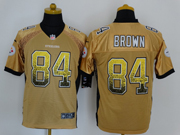 mens nfl Pittsburgh Steelers #84 Antonio Brown drift fashion yellow elite jersey