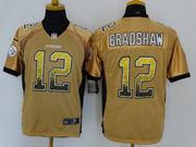 Mens Nfl Pittsburgh Steelers #12 Bradshaw Drift Fashion Yellow Elite Jersey