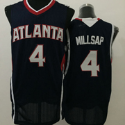 Mens Nba Atlanta Hawks #4 Millsap Black Jersey