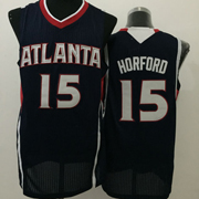 Mens Nba Atlanta Hawks #15 Horford Black Jersey