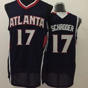 Mens Nba Atlanta Hawks #17 Schroder Dark Blue Jersey