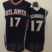 Mens Nba Atlanta Hawks #17 Schroder Dark Blue Jersey