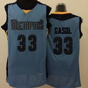 Mens Nba Memphis Grizzlies #33 Gasol Blue Jersey(m)