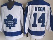 Mens nhl toronto maple leafs #14 keon white throwbacks Jersey