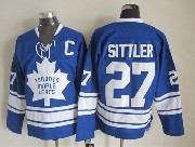 Mens nhl toronto maple leafs #27 sittler blue throwbacks Jersey