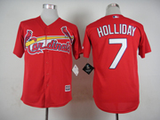Mens mlb st.louis cardinals #7 holliday red 2015 new Jersey