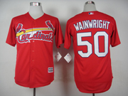Mens Mlb St.louis Cardinals #50 Adam Wainwright Red 2015 New Jersey