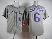 Mens Mlb Colorado Rockies #6 Dickerson Gray Jersey