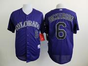 Mens mlb colorado rockies #6 dickerson purple Jersey