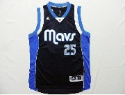 Mens Nba Dallas Mavericks #25 Parsons Dark Blue Revolution 30 Jersey (p)