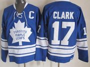 Mens nhl toronto maple leafs #17 clark blue ccm Jersey