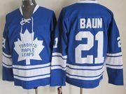 Mens nhl toronto maple leafs #21 baun blue ccm Jersey