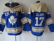Mens nhl toronto maple leafs #17 clark blue hoodie Jersey