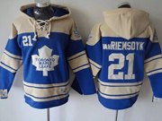 Mens nhl toronto maple leafs #21 van riemsdyk light blue hoodie Jersey