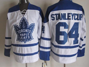 Mens Ccm Nhl Toronto Maple Leafs #64 Tanleycup White Throwbacks 3rd Jersey