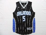 Mens Nba Orlando Magic #5 Oladipo Black Stripe Jersey